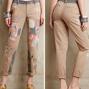 Pilcro Hyphen Patched Chinos, Size 32, Anthro